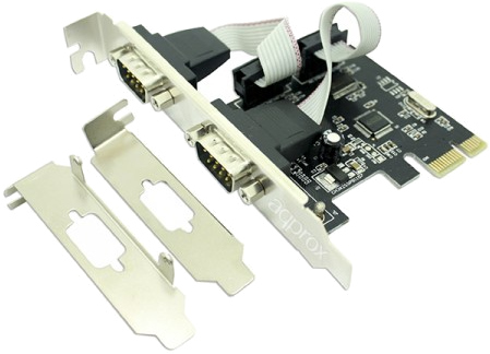 High και low profile κάρτα PCI Express με δύο σειριακές θύρες Approx APPPCIE2S