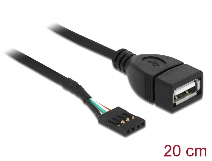 Cable USB Pin header female > USB 2.0 type-A female 20 εκ. Delock 83291