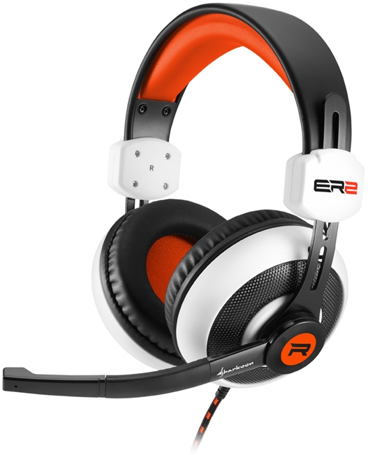 Στερεοφωνικό headset Sharkoon Rush ER2 White