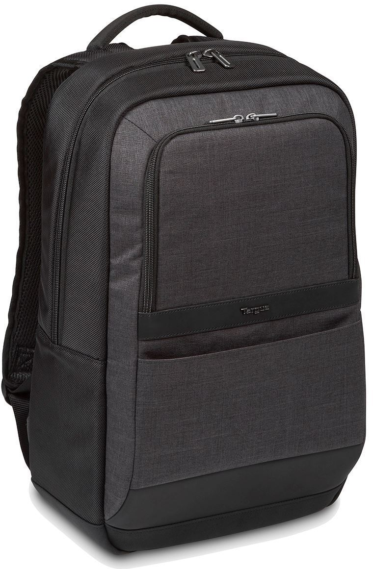 "Targus TSB911EU CitySmart 12.5 13 13.3 14 15 15.6"" Essential Laptop Backpack - Black/Grey"