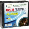 Esperanza ESP DVD-R 4,7GB X16 PRINTABLE - SLIM CASE10 PCS